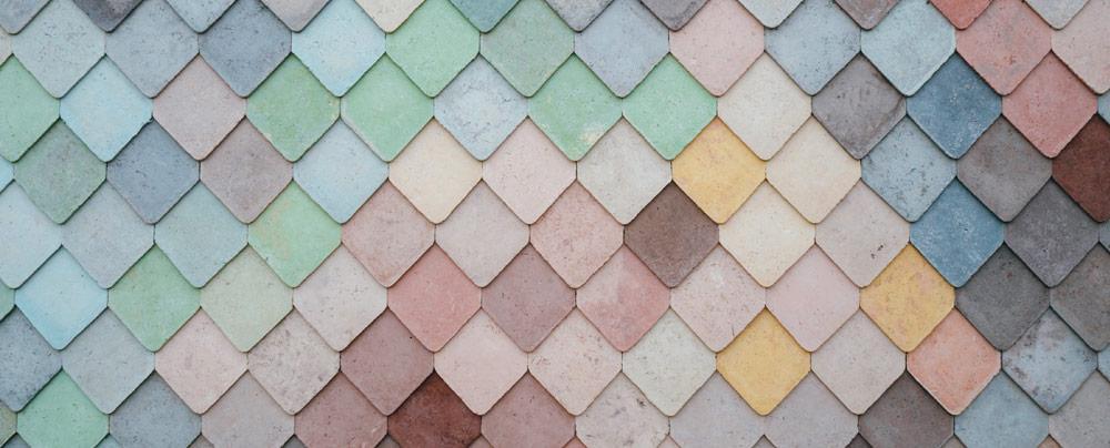 Accent Image - Multi-colored slats