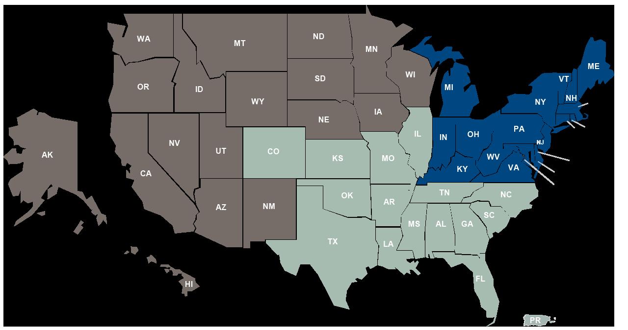 DCIO map
