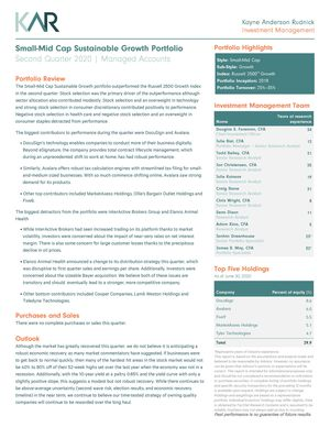 KAR Small-Mid Cap Sustainable Growth SMA Portfolio Fact Sheet