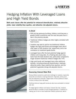 Hedging Inflation With Leveraged Loans and High Yield Bonds