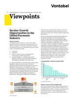 z - Cover Image: Vontobel Viewpoints: Secular Growth Opportunities in the Global Payments Industry