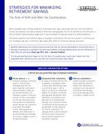 z - Cover Image: Strategies for Maximizing Retirement Savings