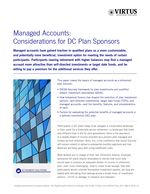 z - Cover Image: Managed Accounts: Considerations for DC Plan Sponsors